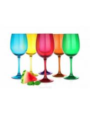 Zestaw 5 kieliszków do wina 260 ml pomarańczowe OUTLET w sklepie Dedekor.pl