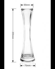 Szklany wazon dekoracyjny wysoki gładki w sklepie Dedekor.pl