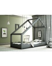 Drewniane łóżko dziecięce domek szary w sklepie Dedekor.pl