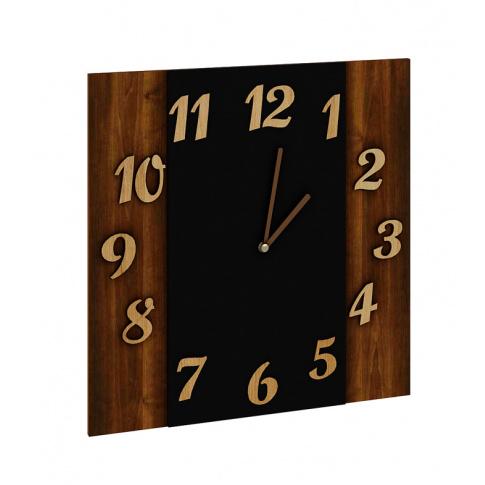 Zegar ścienny 35x35cm dąb w sklepie Dedekor.pl