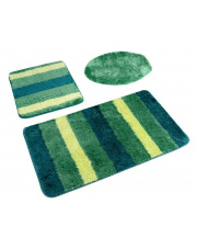 Zielone dywaniki łazienkowe Ombre