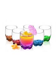 Szklanki do drinków Kolorowe Dna 250 ml