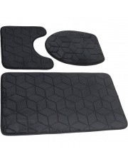 Czarne dywaniki do łazienki