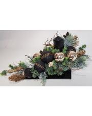 Stroik świąteczny czarno-złoty S30