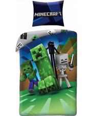 Pościel Minecraft zielona 140/200 cm