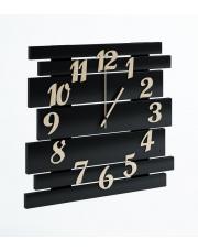Duży nowoczesny zegar czarny
