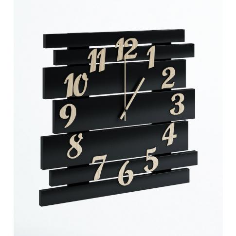 Duży nowoczesny zegar czarny w sklepie Dedekor.pl