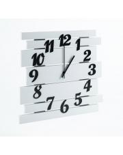 Duży nowoczesny zegar biały