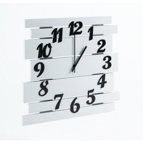 Duży nowoczesny zegar biały w sklepie Dedekor.pl
