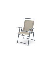 Krzesło składane popielate