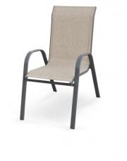 Krzesło ogrodowe popielate