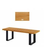 Ławka parkowa drewniana 150cm  w sklepie Dedekor.pl
