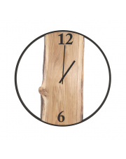 Duże zegar Loft dąb 60cm