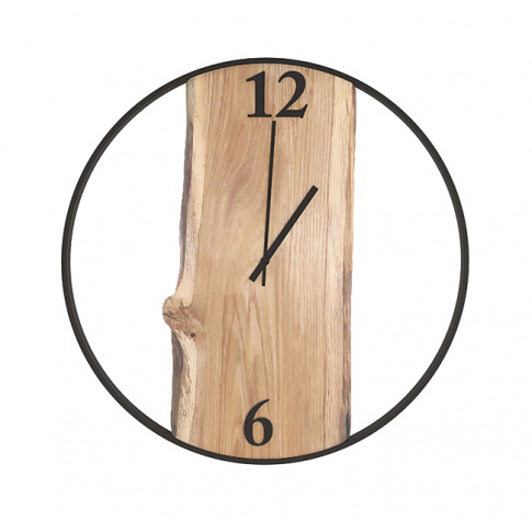 Duże zegar Loft dąb 60cm  w sklepie Dedekor.pl