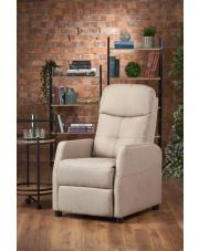 Rozkładany fotel wypoczynkowy kremowy