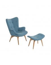Komfortowy fotel z podnóżkiem