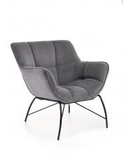 Wypoczynkowy fotel szary Belton