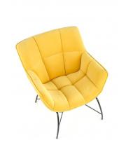 Nowoczesny fotel żółty Belton