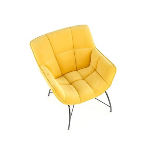 Nowoczesny fotel żółty Belton w sklepie Dedekor.pl