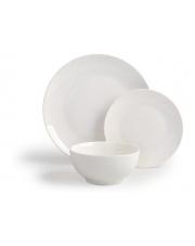 Komplet obiadowy porcelana 18cz. biały w sklepie Dedekor.pl