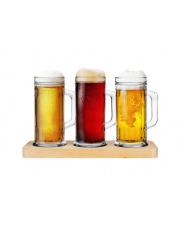 Zestaw do testowania piwa 3 kufle+deska