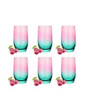 Komplet 6 szklanek wysokich na lato 2
