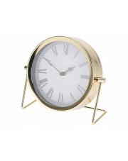 Zegar stołowy Złoty Glamur stojący w sklepie Dedekor.pl