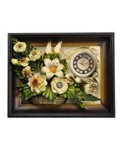 Obraz ze skóry kwiaty 3ZE 40x50 cm w sklepie Dedekor.pl