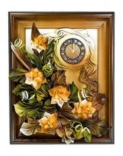 Zegar ścienny ze skóry 3ZE/BZ
