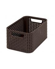 Plastikowy koszyk ozdobny Style Rattan 28,5x13x19 brązowy