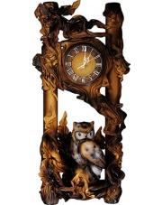 Zegar ścienny ze skóry sowa 18ZE/SO
