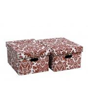 Pudełko Roma czerwone 18.5cm w sklepie Dedekor.pl