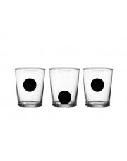 Szklanki zdobione Dot Black zestaw 3szt