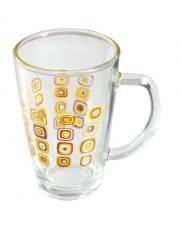Kubek szklany kwadraty 350 ml 21985