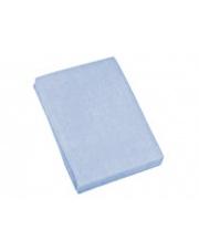 Niebieskie prześcieradło frotte 200x220 cm