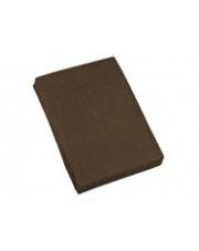 Prześcieradło frotte czekoladowe 200x220 cm