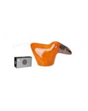 Pomarańczowy tukan ceramiczny mały 10x7x17