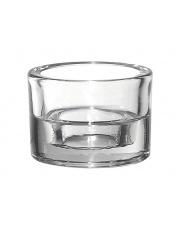 Szklany okrągły świecznik Duo wys.5,8