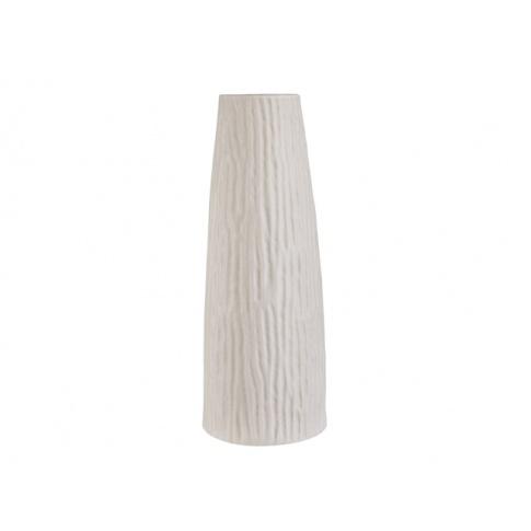 Okrągły ceramiczny wazon ozdobny beżowy 17x17x46 w sklepie Dedekor.pl