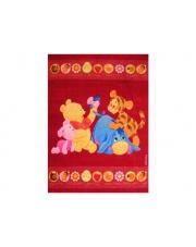 Czerwony dywan Baby 100x150 Kubuś Puchatek akrylowy
