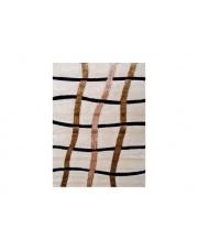 Kremowy dywan w kratę Guiza 80x150