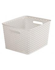 Koszyk plastikowy My Style 18l kremowy
