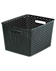 Koszyk ozdobny plastikowy My Style 18l ciemny brąz