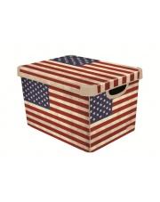 Pudło z uchwytami Flaga Amerykańska 39,5x29,5x25 plastikowe