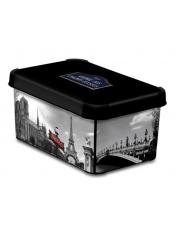 Plastikowe pudełko ozdobne z pokrywą Paryż 29,5x19,5x13,5 w sklepie Dedekor.pl