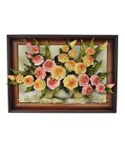 Obraz ze skóry kwiaty 4KW/011