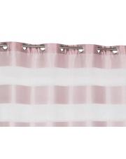 Różowa zasłona ozdobna w pasy Delice 140x240 w sklepie Dedekor.pl