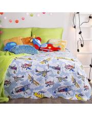 Dziecięca narzuta na łóżko 170x210 samoloty