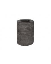 Ceramiczny świecznik ozdobny szary 10x7,5x7,5 walec
