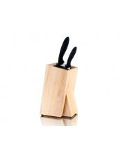 Drewniany stojak na noże ceramiczne Brillante ze szczecinami  w sklepie Dedekor.pl